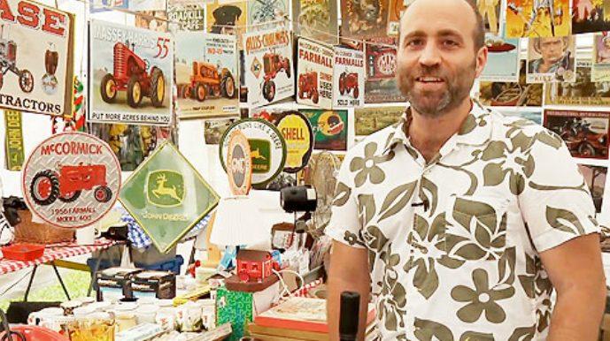 Jason Cochran at the World's Longest Yard sale