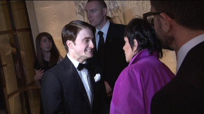 Daniel Radcliffe meeting Liza Minnelli