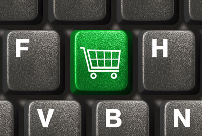 cart keyboard button online shopping