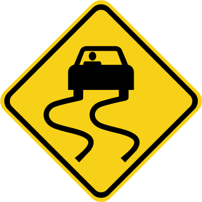 Warning: Slippery travel