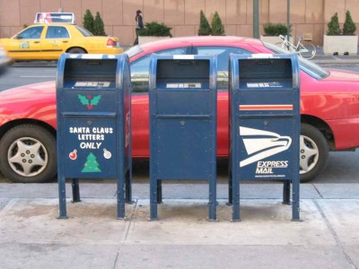 Mailboxes on Eighth Avenue, Manhattan, 2002