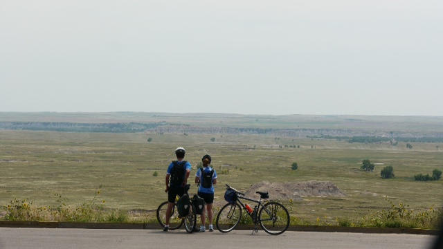 Cycle couple at Badlands National Park