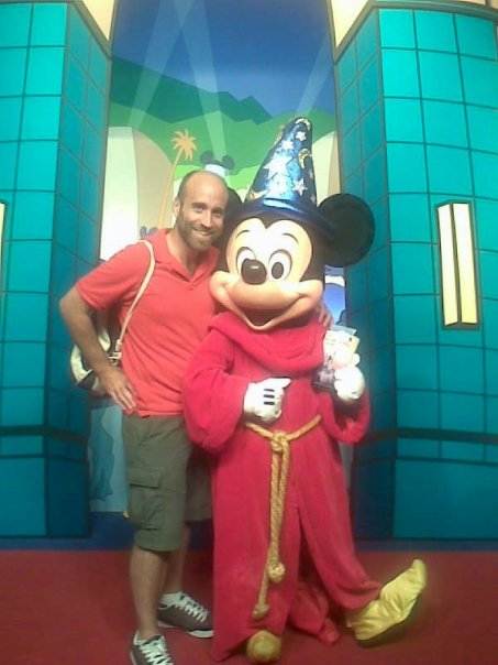 Jason Cochran with Mickey Mouse