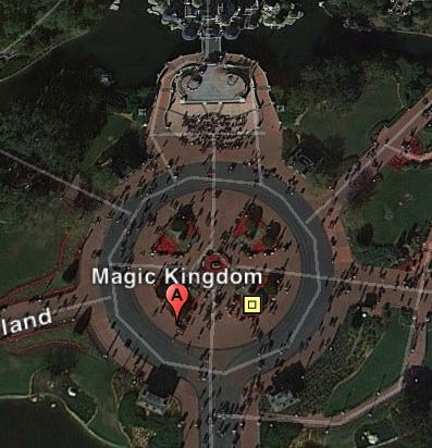 Disney Google Maps on